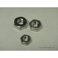 8-32 Plain Hex Nut, Stainless Steel (25 pcs)