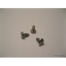 #4 x 1/4in Slotted Pan Head Type A, Stainless Steel (25 pcs)