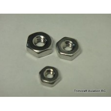 2-56 Plain Hex Nut, Stainless Steel (25 pcs)